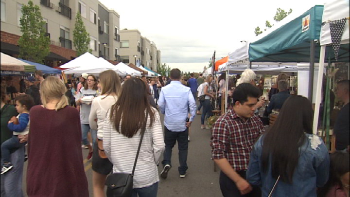 Kendall Yards Night Market draws large crowd for season opener