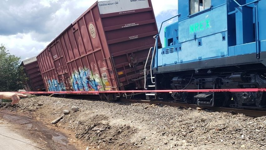 Train derails in Bonner County