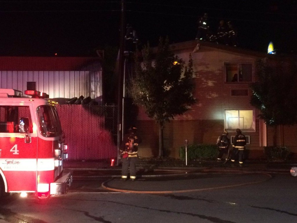Crews investigate fire at downtown Les Schwab