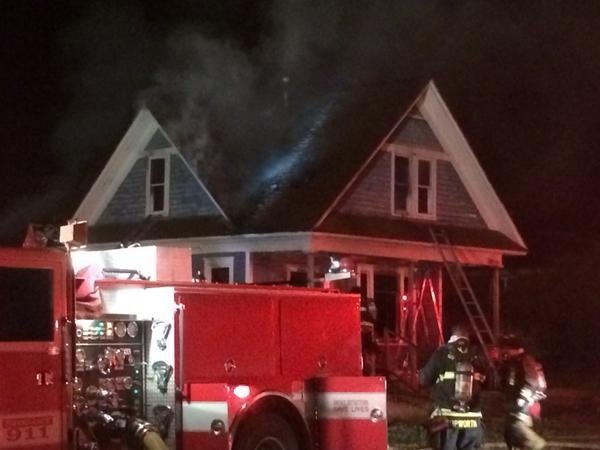 Early morning fire damages home on E. Liberty