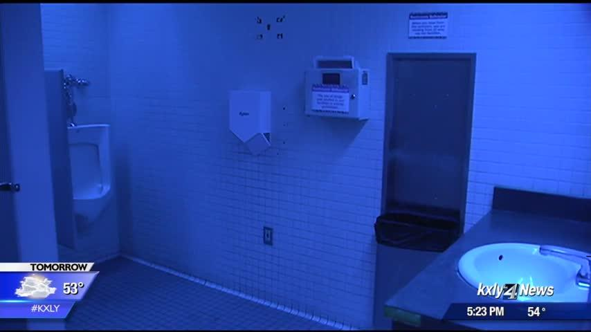Downtown Spokane library considering removal of bathroom blue lights