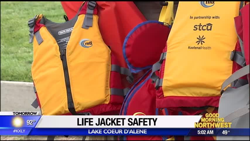 Kootenai Health stocks life jacket loaner stations to ensure all boaters are safe on the water