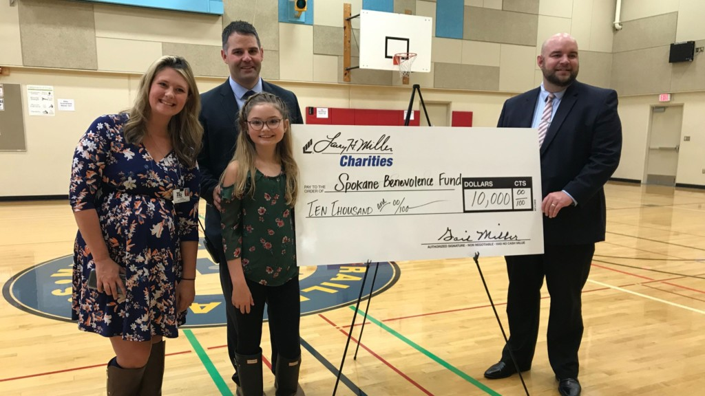 Mullan Road Elementary student raises $10K to help wipe out school lunch debt