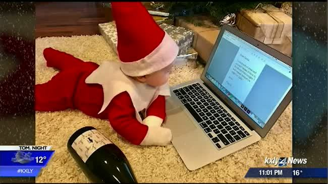 Local baby gains national attention for 'Elf on the Shelf' photos