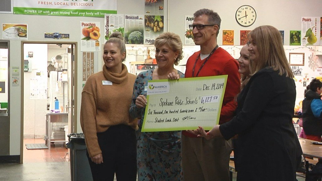 Numerica Credit Union donates $25K to cover lunch debt at local schools