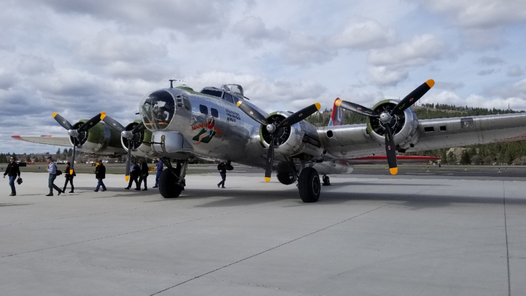 Historic B-17 bomber visits Felts Field