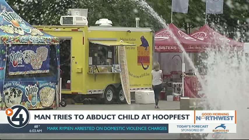 Man arrested for trying to kidnap child at Hoopfest