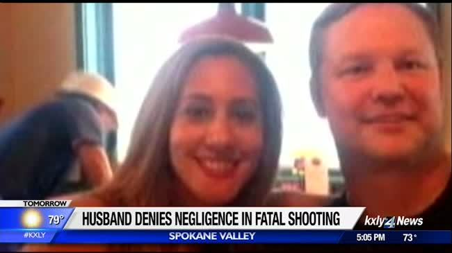 Man who shot wife denies claims of negligence