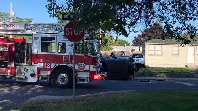 Two people injured in crash near Maple and Queen