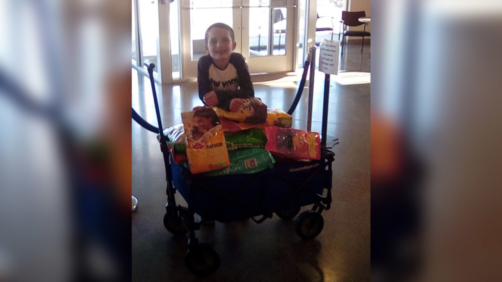 Two children ask for pet food donations for birthday, donate to SCRAPS