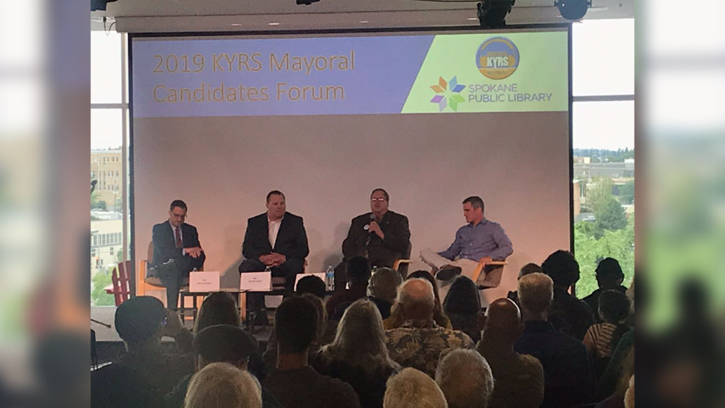 Spokane mayoral candidates take questions from voters during forum