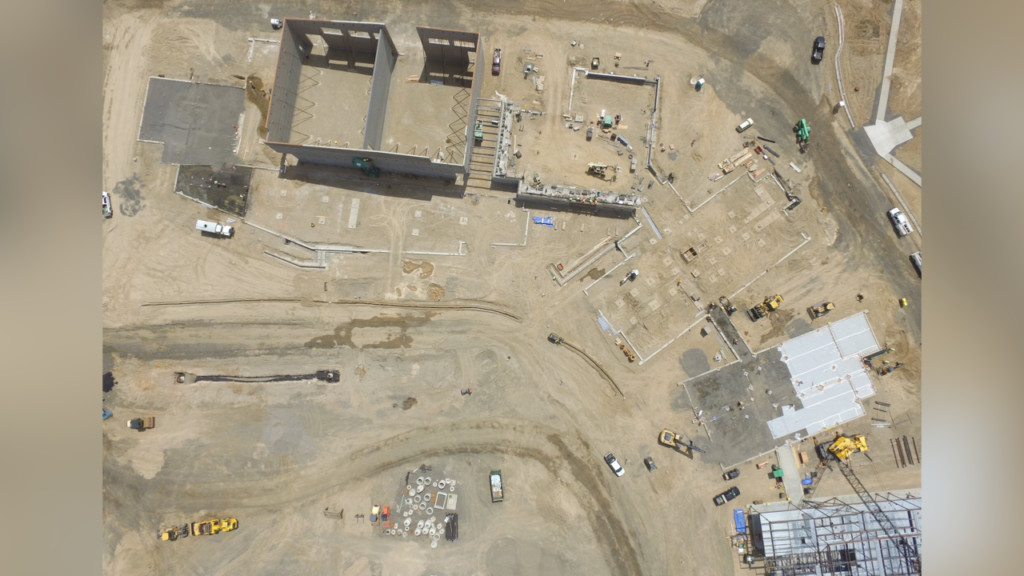 Mead School District shares aerial update of new school construction
