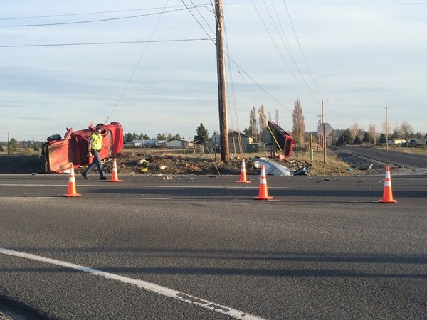 Serious crash sends four people to hospital