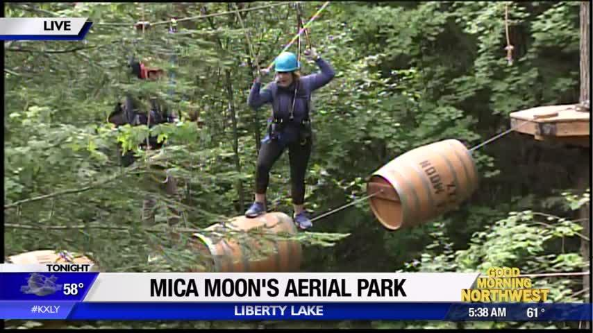 "Mica Moon adds ""Aerial Park"" to its attractions, puts visitors up in the trees"