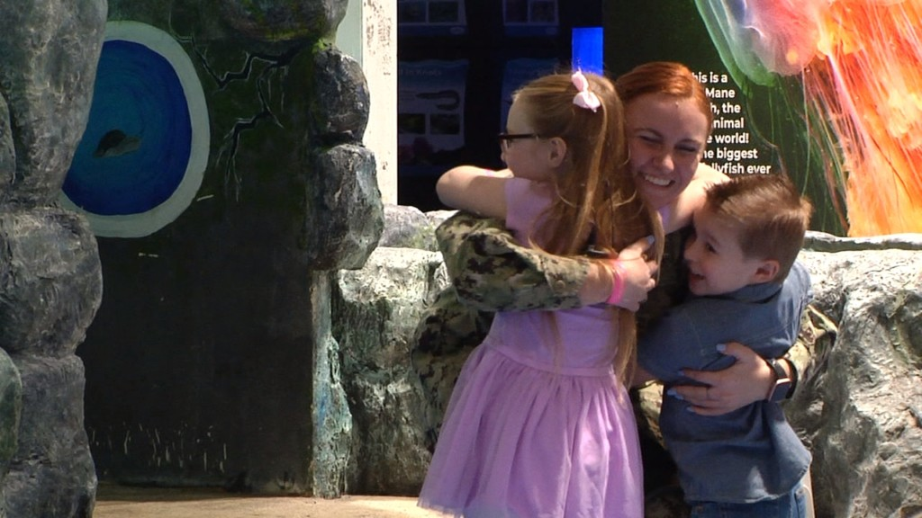 Local servicewoman comes home, surprises family after one year apart