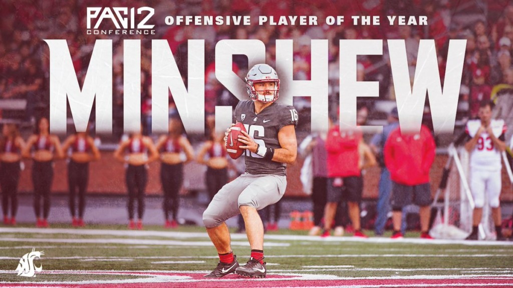 WSU's Gardner Minshew named Pac-12 Offensive Player of the Year