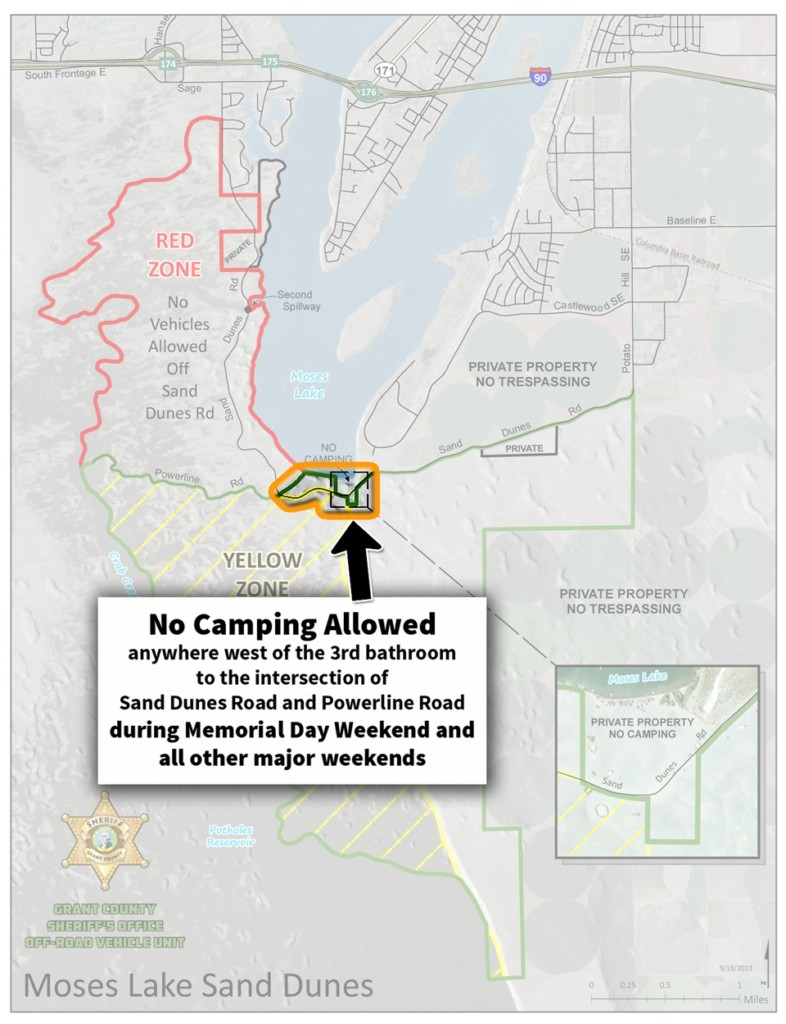Camping restrictions at Moses Lake Sand Dunes in place over Memorial Day Weekend