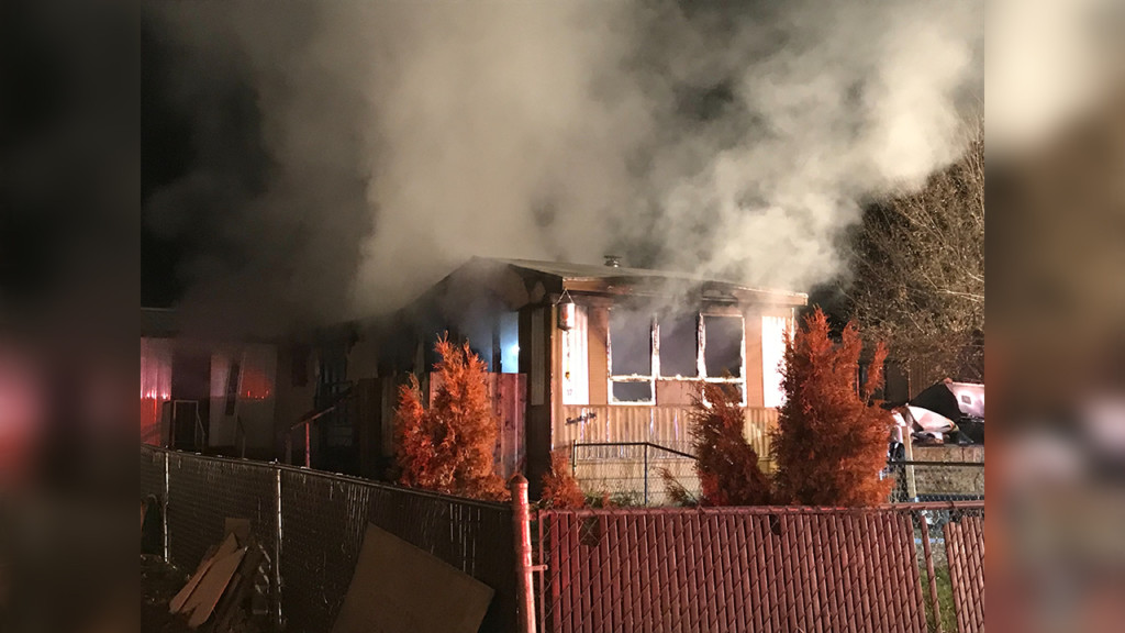 Crews investigating Airway Heights mobile home fire