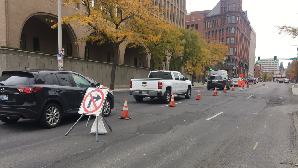 Expect delays on Monroe St. in downtown Spokane