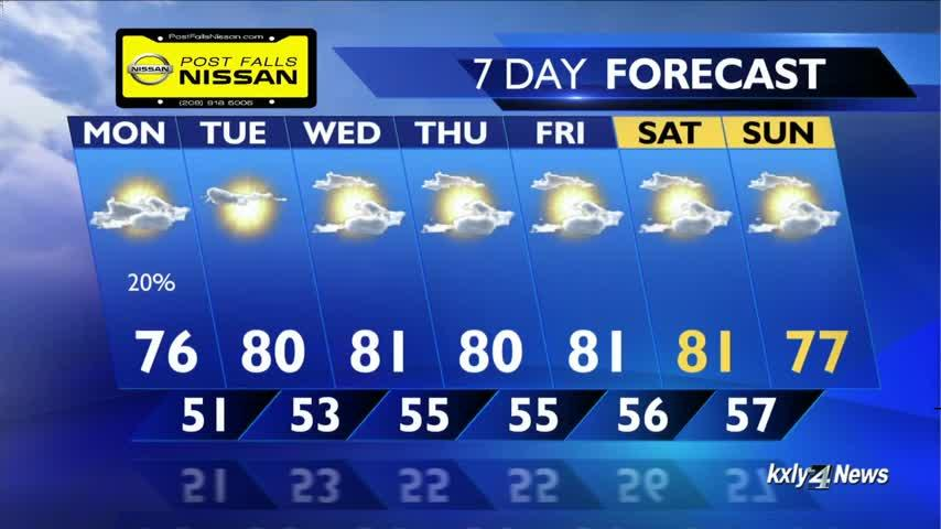Warm and sunny for your Memorial Day, and there's more where that came from!