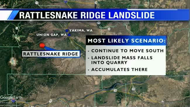 Most likely scenario in Rattlesnake Ridge landslide