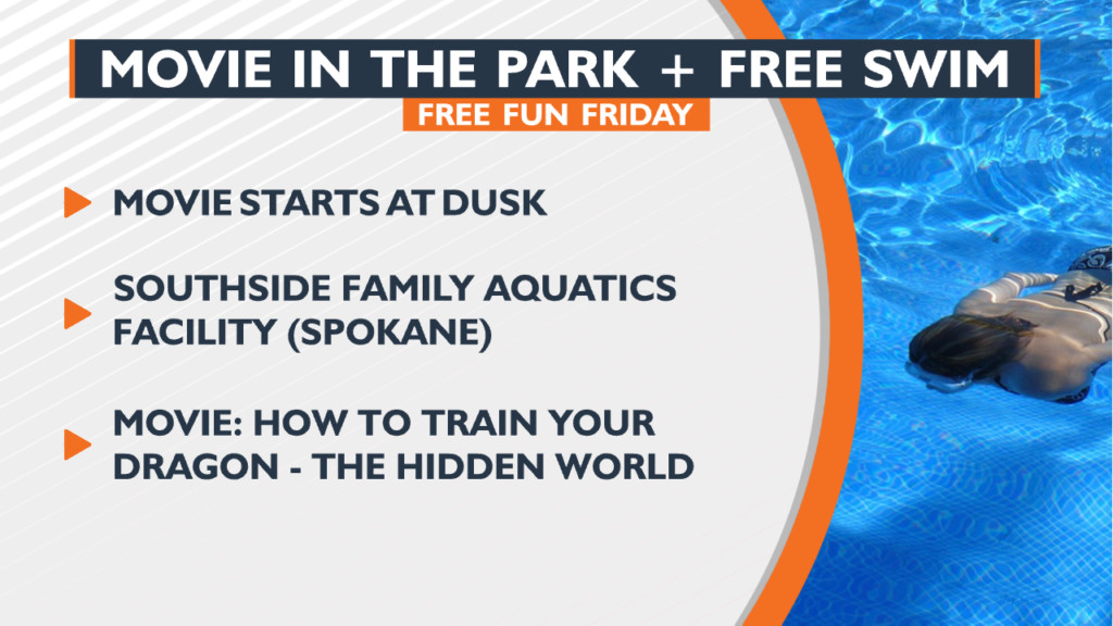 Free Fun Friday: take a dip, then dry off with a movie on huge blow up screen