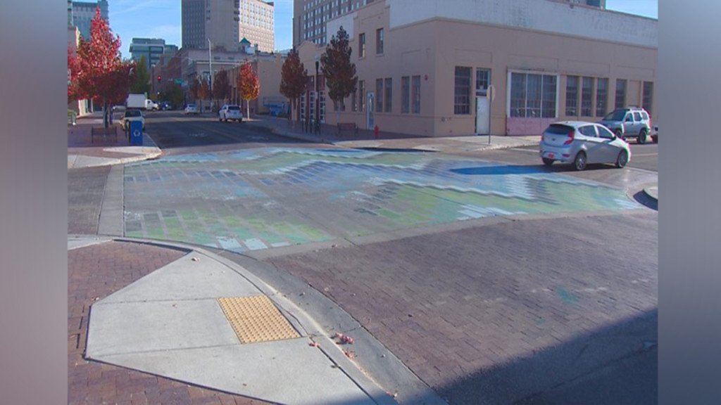 Unique Boise street mural can't hold up to traffic, weather
