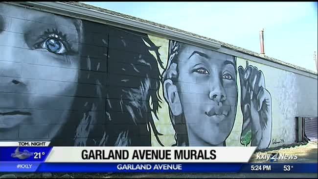 Murals added in Garland District to discourage graffiti