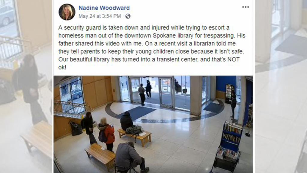 'It's not an epidemic': Library responds to video posted by Spokane mayoral candidate