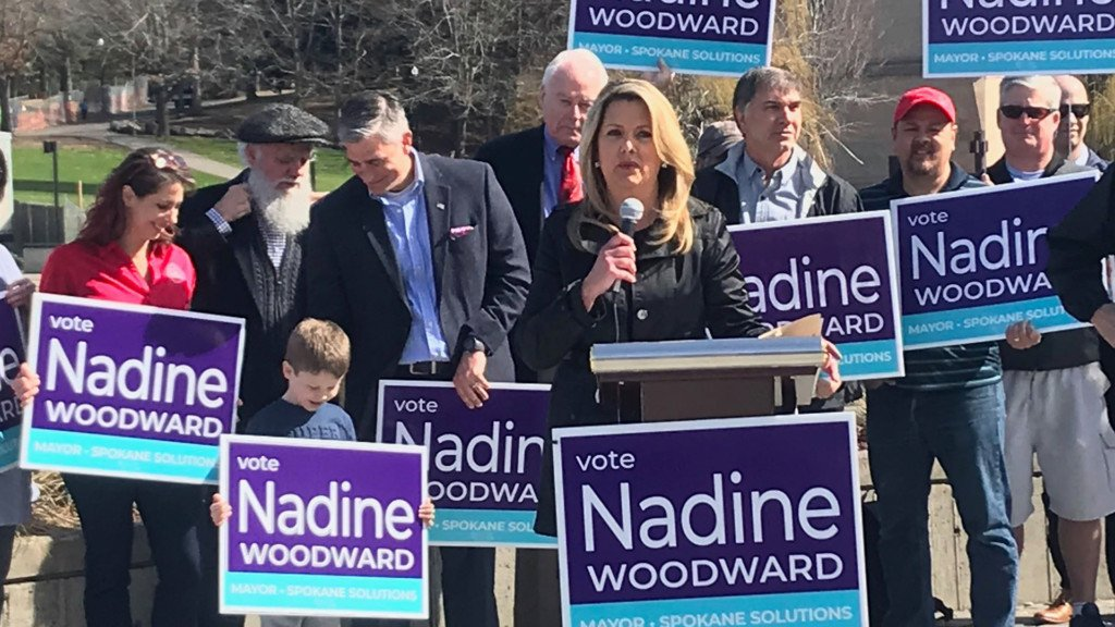 Spokane Police Guild endorses Nadine Woodward for mayor