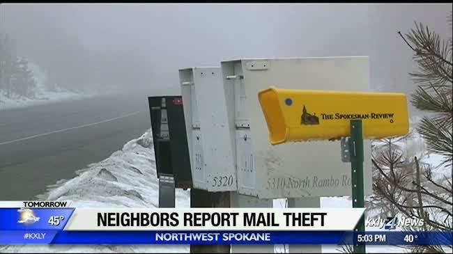 Neighbors say dozens of mailboxes broken in to in Northwest Spokane