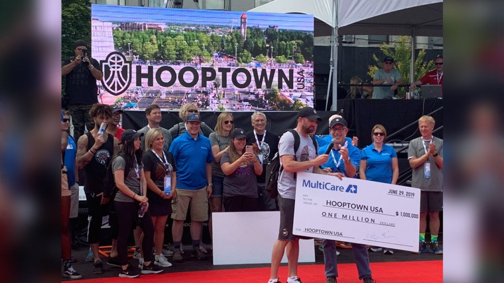 MultiCare INW donates $1M to Hooptown USA for new basketball court