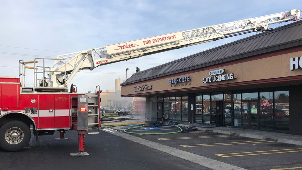 Business fire in north Spokane