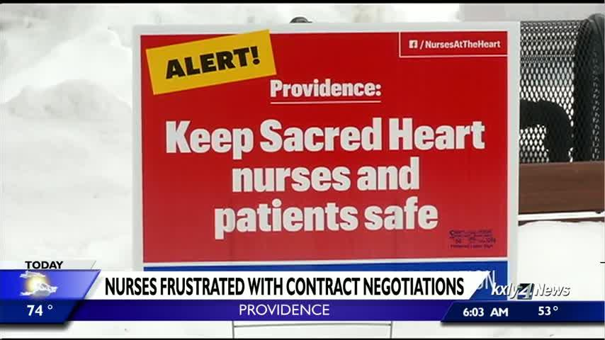 Sacred Heart nurses take to the picket lines