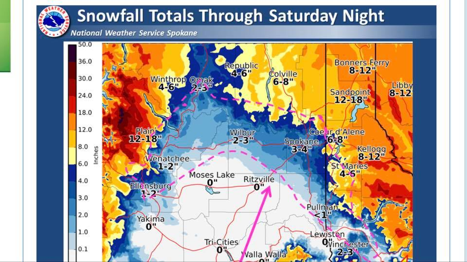 Second storm of the week brings new snow, high winds to Inland NW