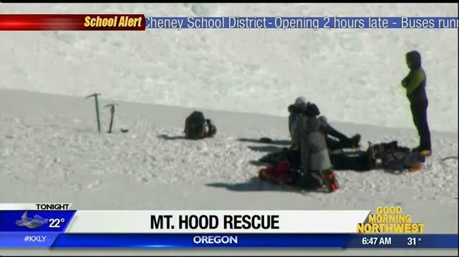 One hiker dead from fall, others rescued from Mt. Hood