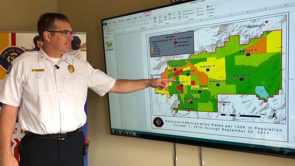 Spokane Valley Fire uses new mapping system to track opioid hot spots
