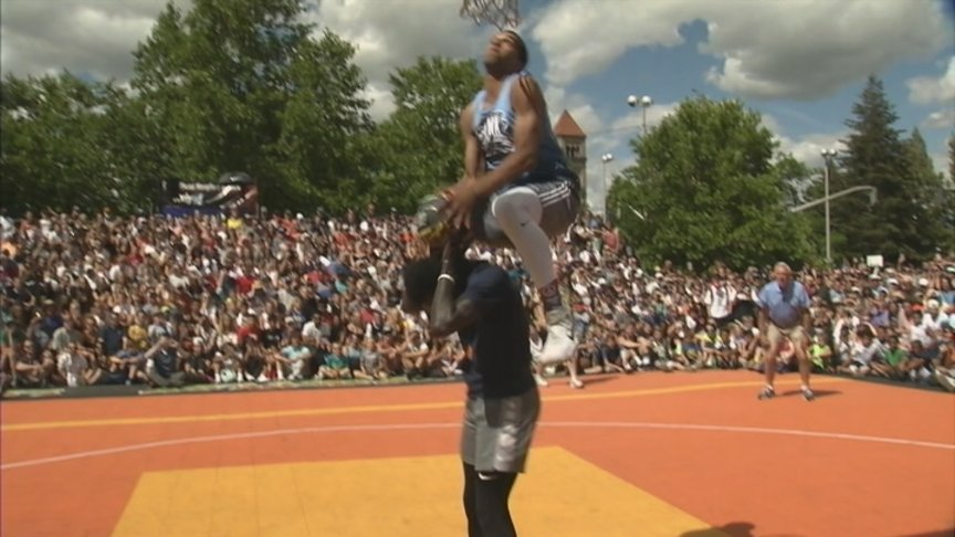 Isaiah Edwards crowned Hoopfest dunk champion