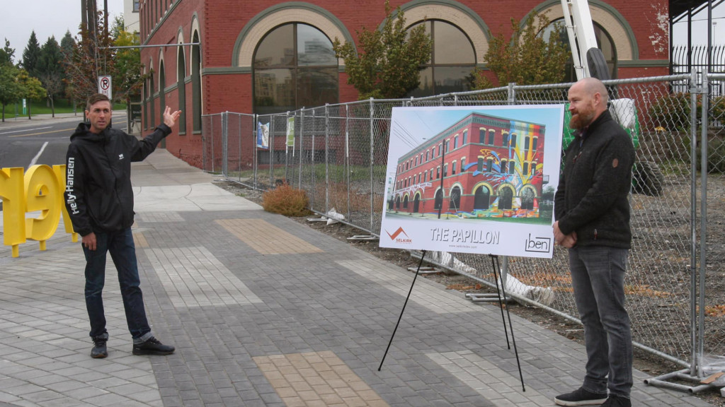 Former Ram Building near Riverfront Park getting butterfly-themed makeover