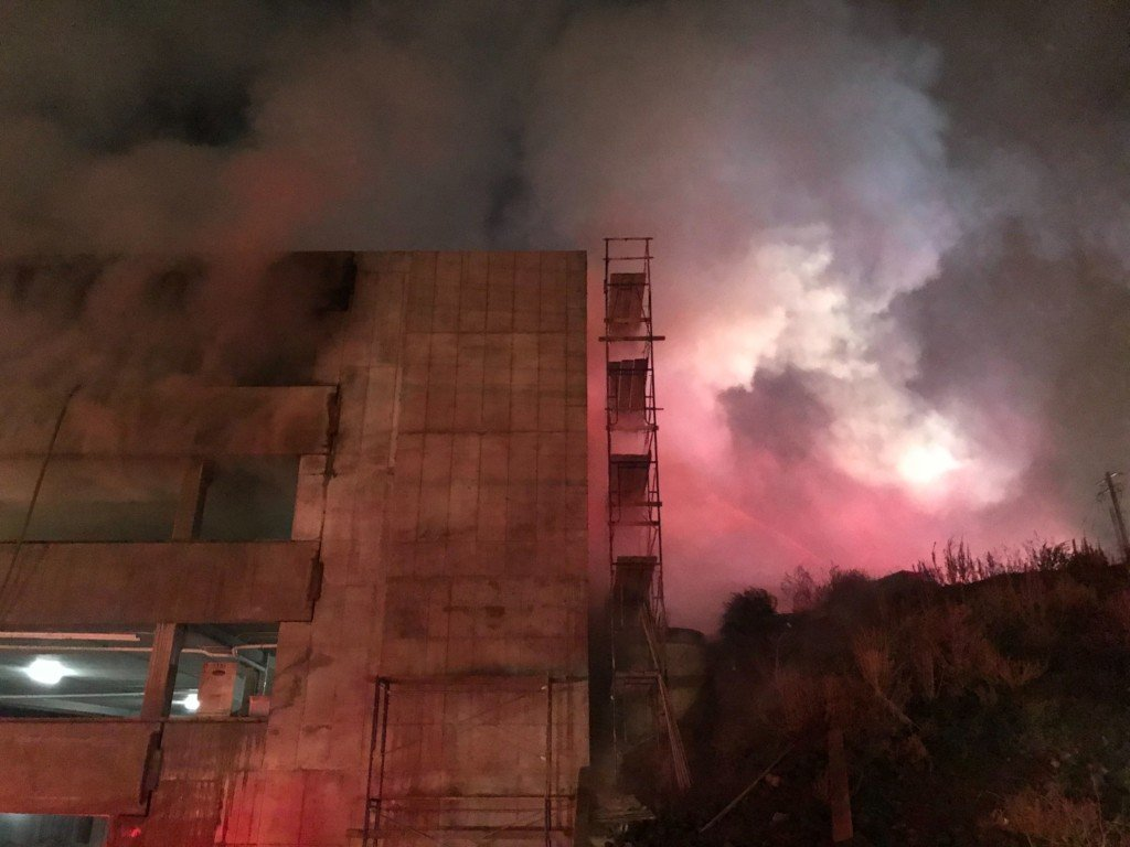 Fire near Sacred Heart prompts large emergency response