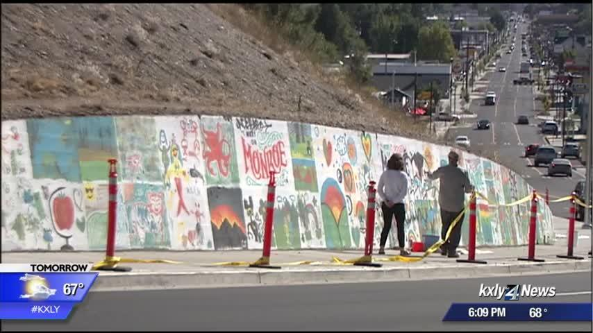 Community mural on North Monroe vandalized just days after painting