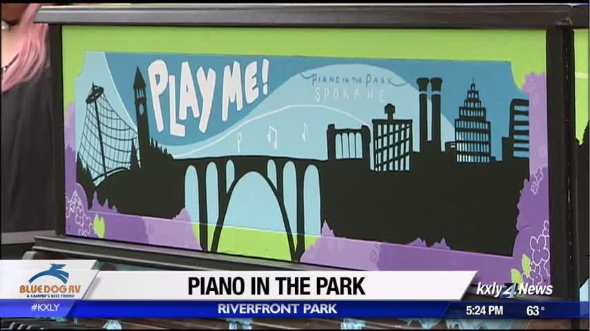 Piano in the park available for public to play