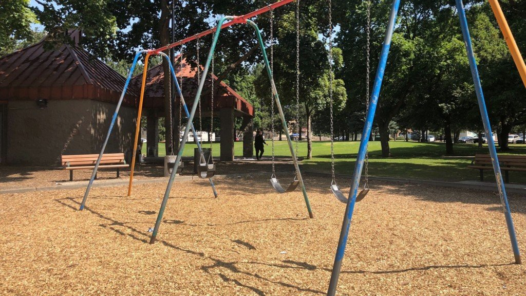 Liberty Lake closed playground equipment and basketball courts due to fears over the coronavirus