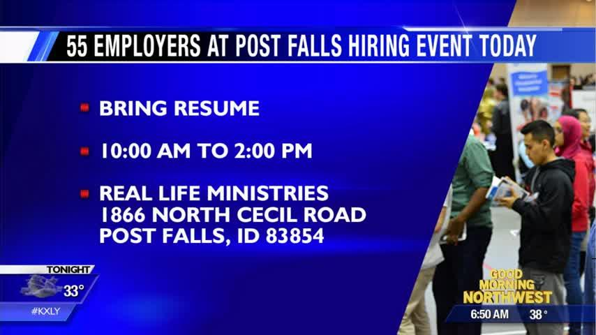 1,500 jobs up for grabs in Post Falls today