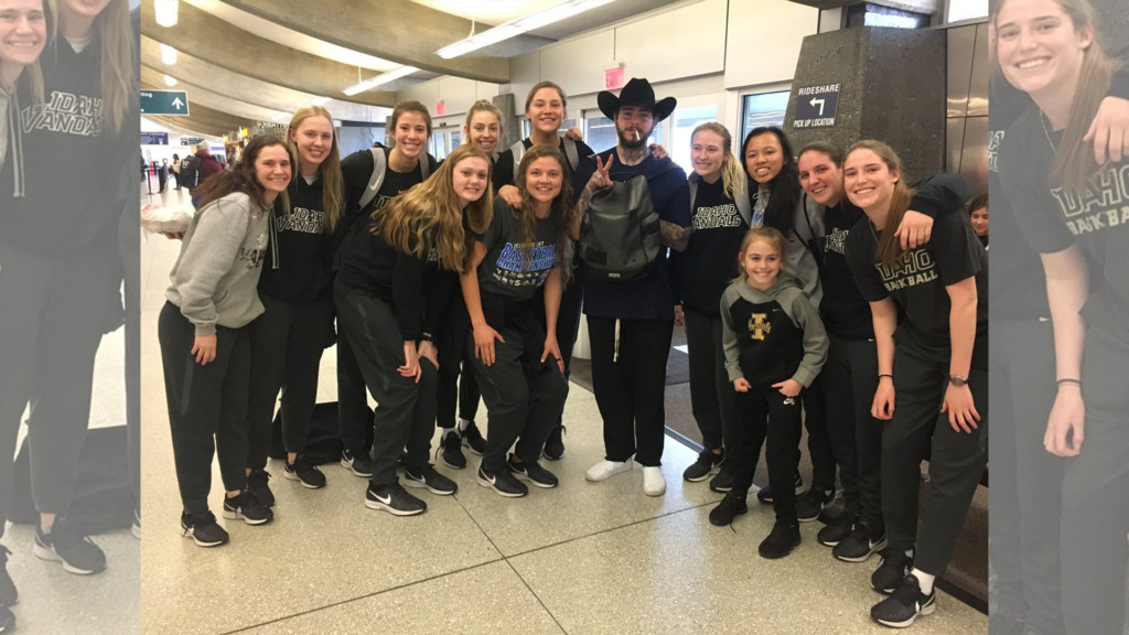 Vandals women's basketball runs into Post Malone at Spokane Airport