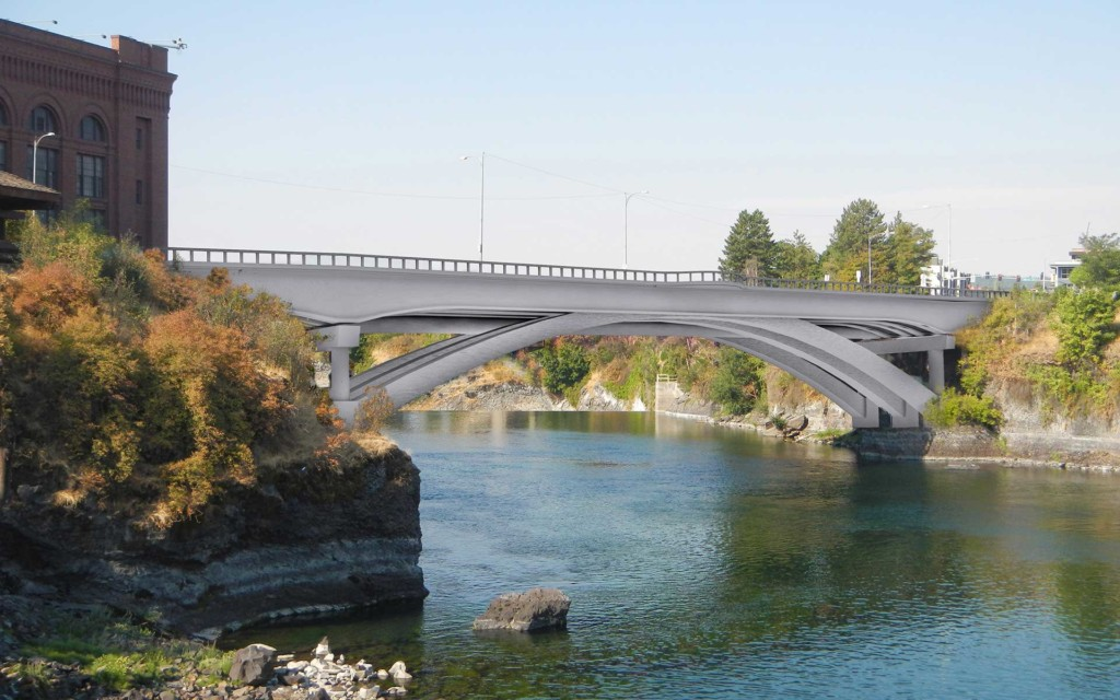 Arches of Post St Bridge will remain in new design