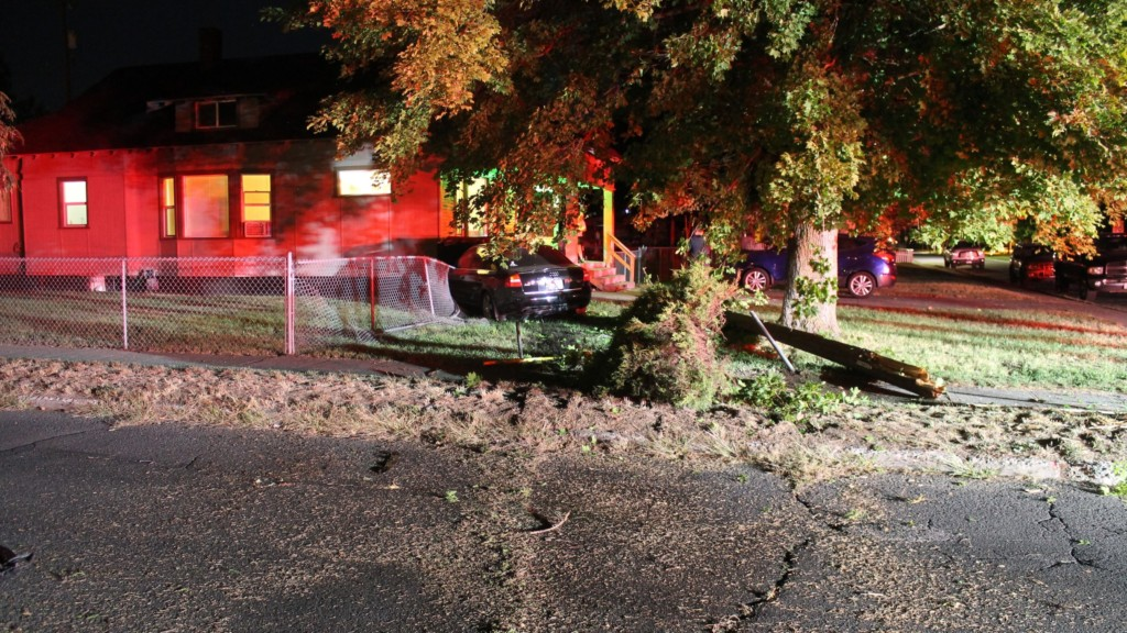 Police: DUI suspect crashes into 2 power poles, ends up in front yard of N. Spokane home