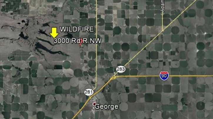 UPDATE: Evacuation notice canceled for fire burning near Quincy