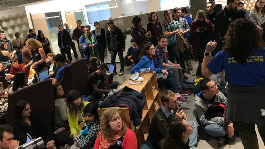 UW student employees demand end to sexual harassment and discrimination at university