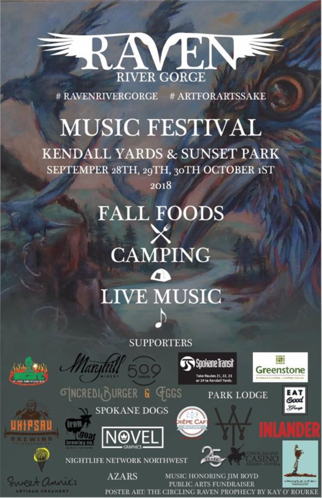 Festival and campout coming to Spokane River gorge and Kendall Yards